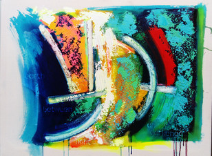 Wind Rider 2017 acrylic on canvas 102x77cms