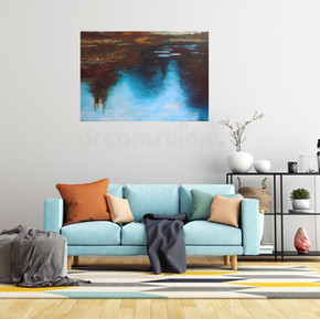 Melkinthorpe Pond 2 in a room