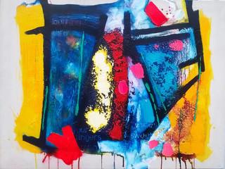 Be Bop Sirens 2017 acrylic on canvas107x77cms