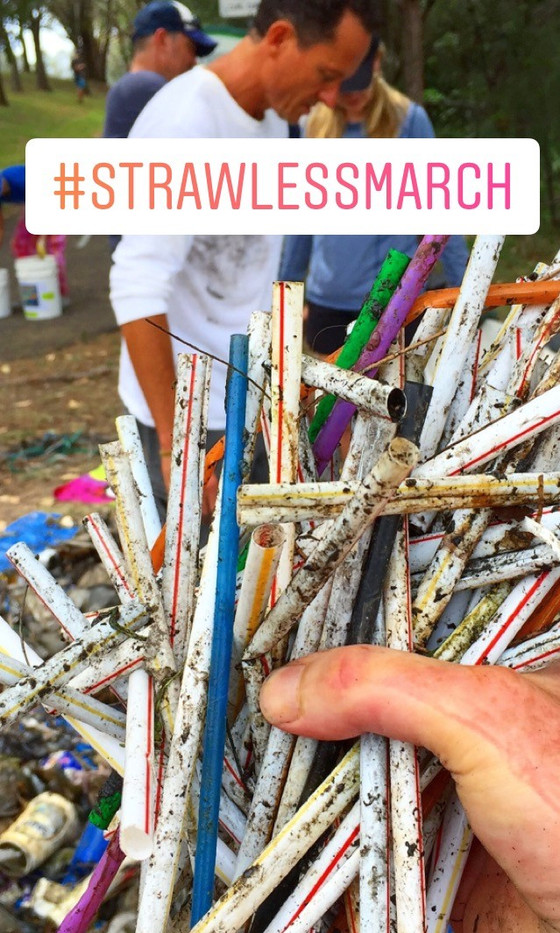 #StrawlessMarch