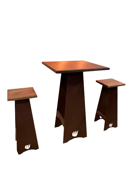 Kit 2 tabourets 1 table haute