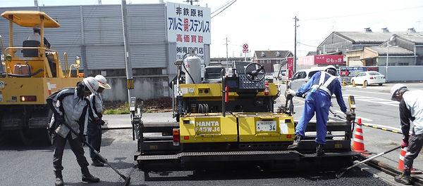 ゼアー 梅田商店 岐南町 駐車場 舗装工事