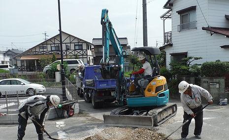 ゼアー 水道復旧 舗装復旧工事 路盤工