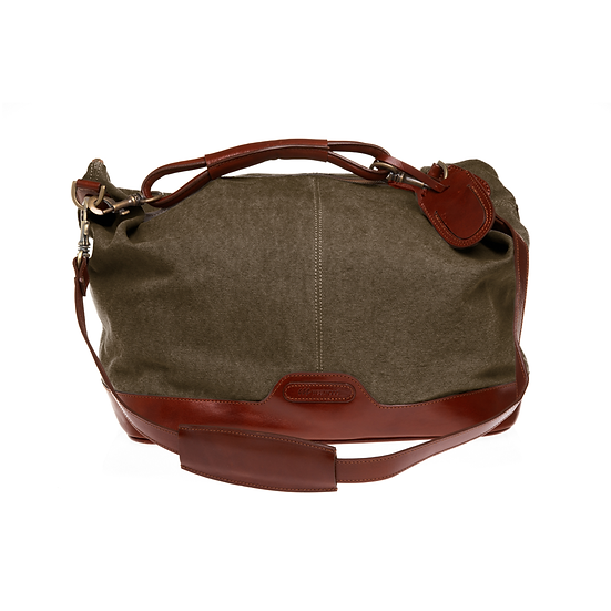 Bespoke Ladies Khaki Canvas Travel Bag