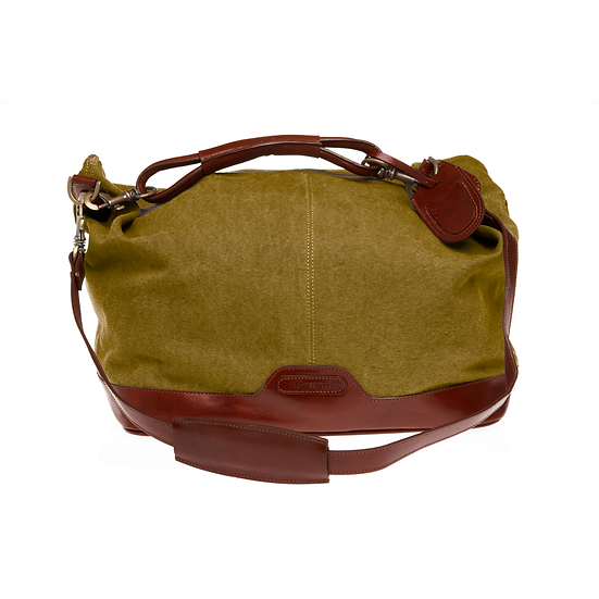 Bespoke Ladies Chartreuse Canvas Travel Bag