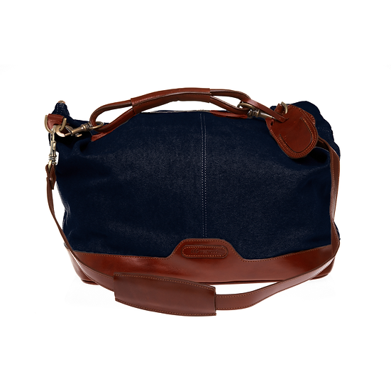 Bespoke Ladies Indigo Canvas Travel Bag