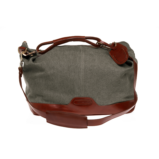 Bespoke Ladies Taupe Canvas Travel Bag