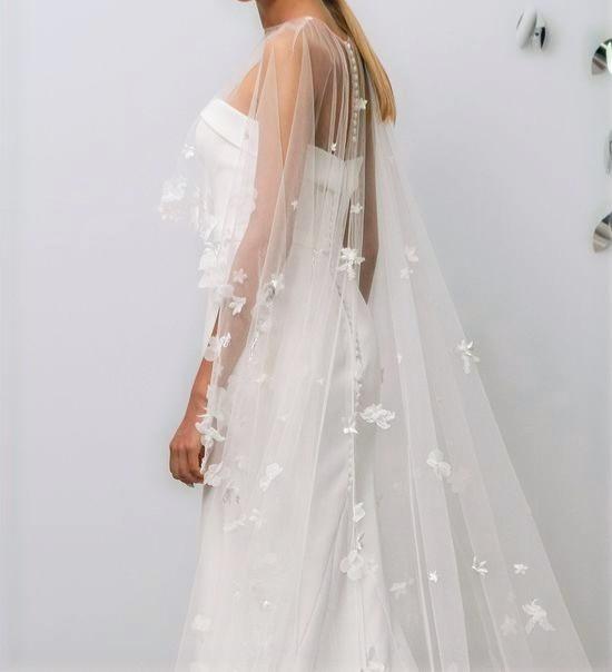 floral bridal cape