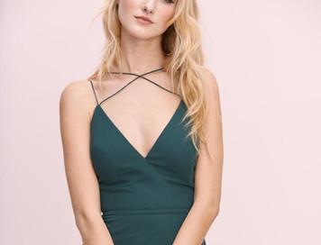 evergreen 'adalina' maids dress