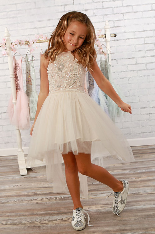 Harmony Sand Hi-Lo Dress