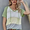 Thumbnail: Green Hooded Knit Short Sleeve Top