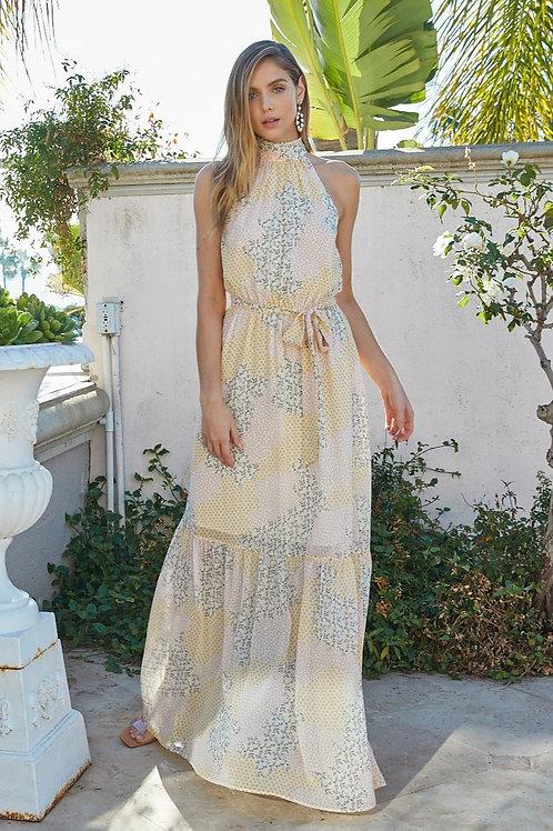 Mixed Ditsy Print Maxi Dress