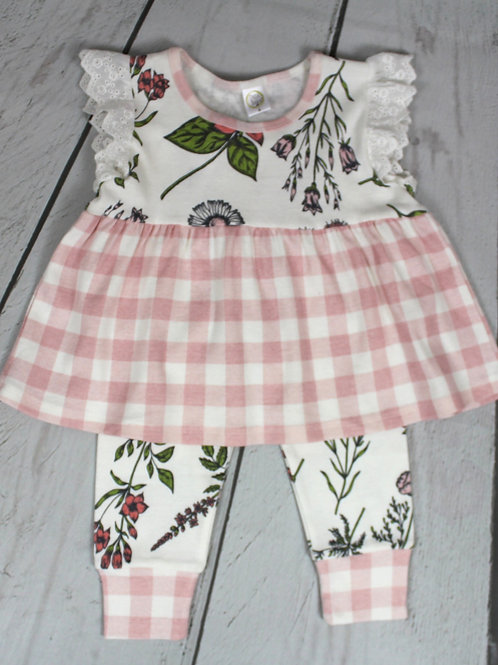 2pc Prairie Flowers Top w/ Pant