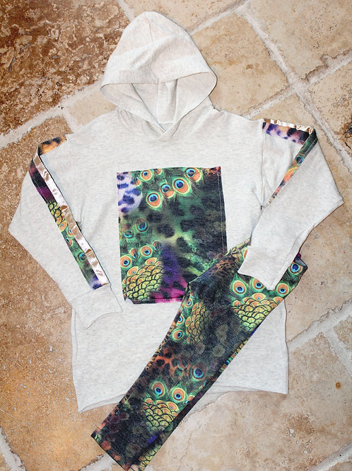 2pc Patch Sweatshirt w/ Legging