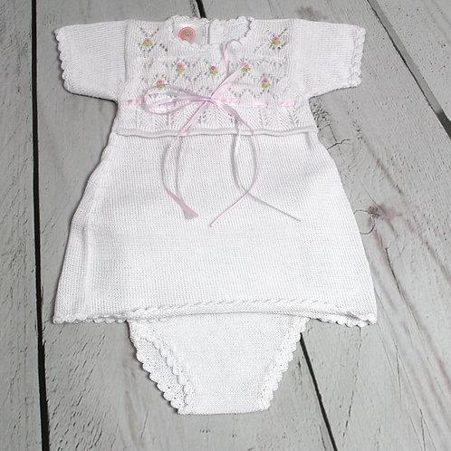 2pc Rosette Bodice Dress w/ Panty