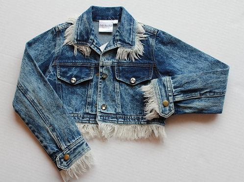 Denim Jacket w/Frayed Edging