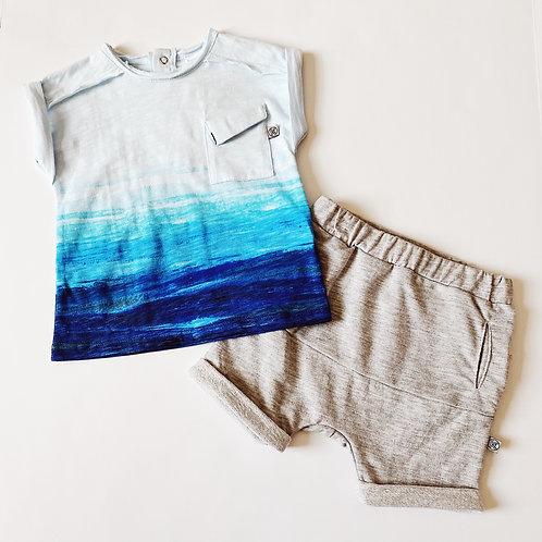 2pc Paintbrush Ocean T w Short