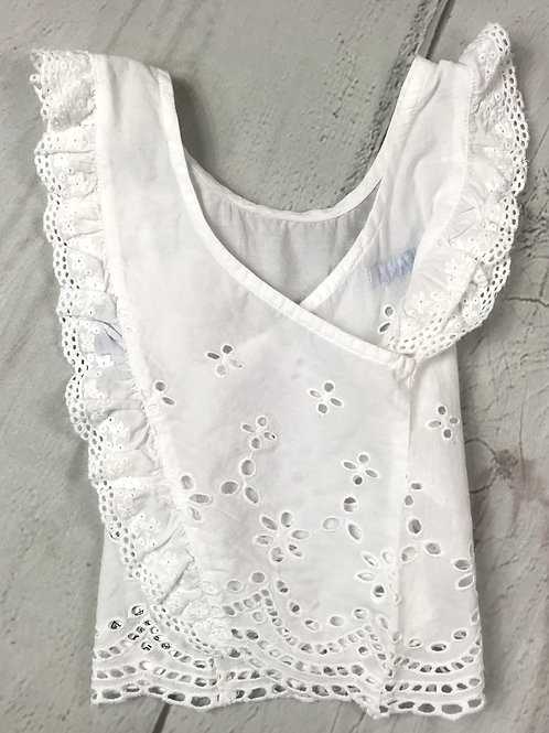 White Embroidered Top