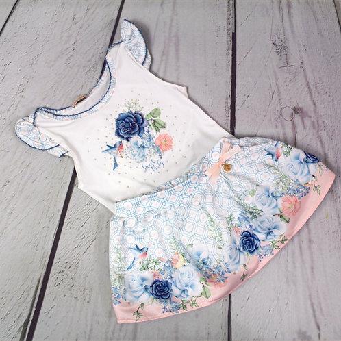 2pc Body Suit w/ Skirt Set