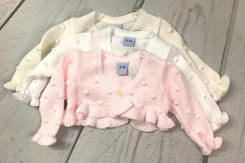 Knit Sweater w/ Ruffle Edge