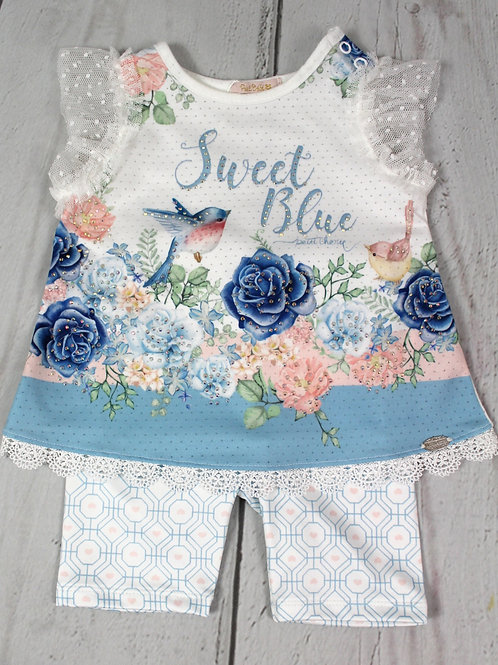 2pc Sweet Blue Legging Set