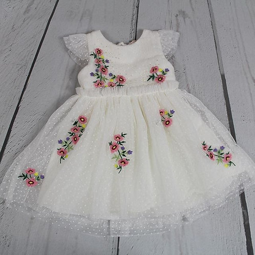 Swiss Dot Embroidered Dress