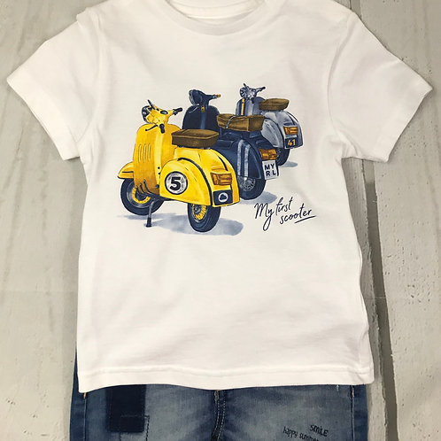 Scooter White Tee
