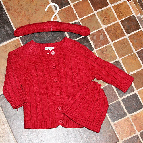 3pc Cable Sweater w/ Hanger