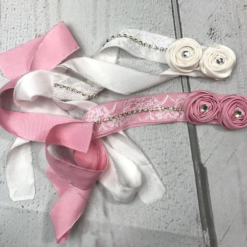 Soft Self Tie Ribbon Headband