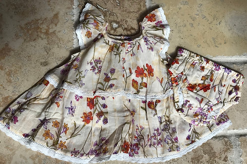 2pc Meadow Dress and Diaper Cover