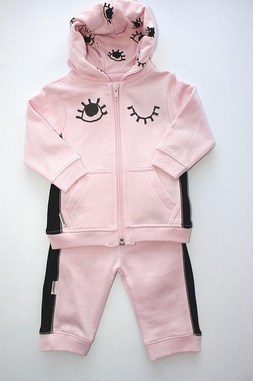 2pc Pink Hoodie and Pant Set
