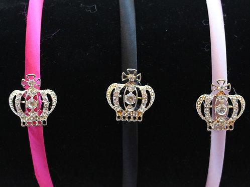 Hard HB w/ Rhinestone Gold Crown