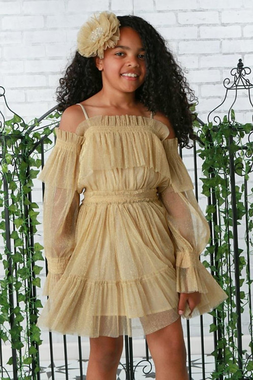 Gold Avery Tulle Dress