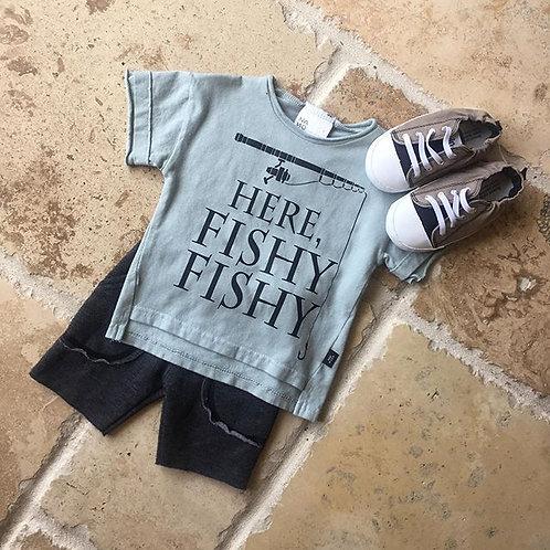 2pc Moss Fishing Tee w/ Black Short