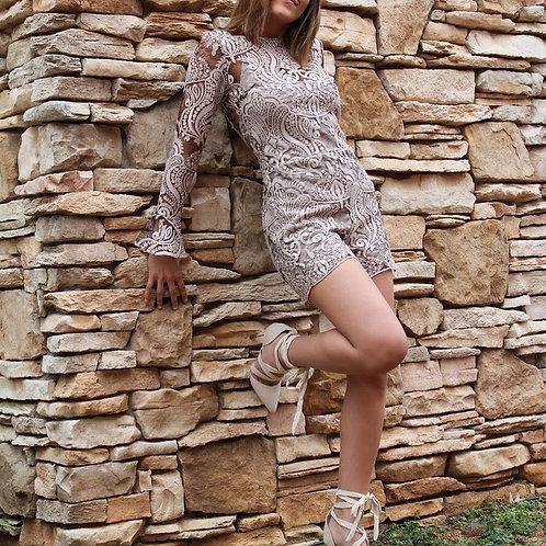 Blush Lace Cher Romper