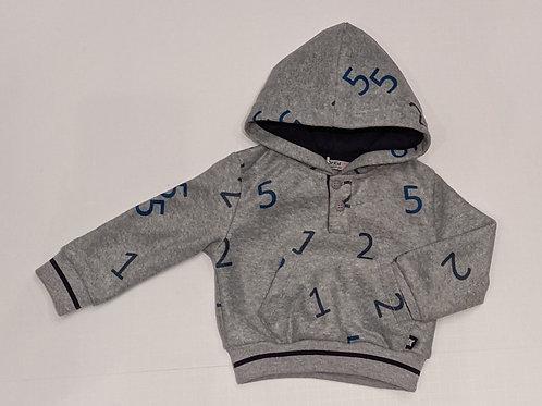 Grey Alphabet Hoodie