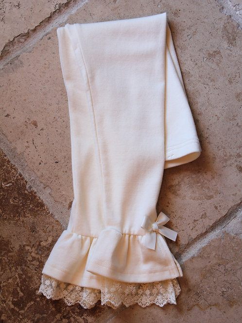 Lace Cuff and Bow Legging