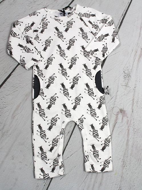 Romper w/o Feet w Zebra