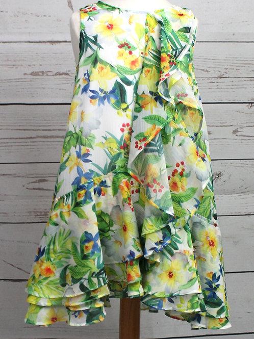 Yellow / Green Printed Dress