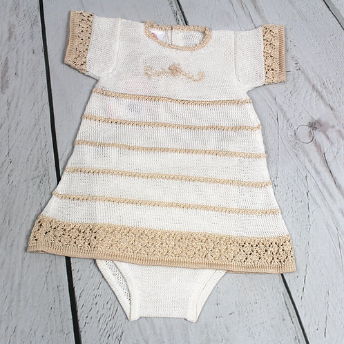 2pc Cotton Knit Dress w Panty