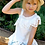 Thumbnail: White One Shoulder Eyelet Ruffle Dress