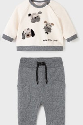 2pc Cream Puppy Grey Jogger
