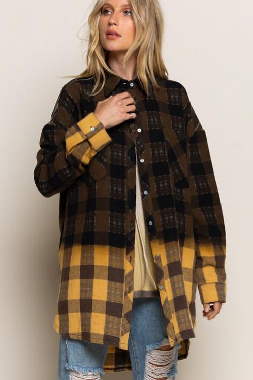Multi Fade Flannel Top