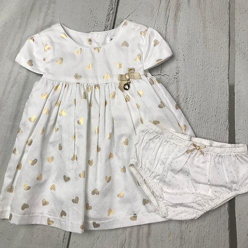 2pc Gold Heart Dress w/ Panties