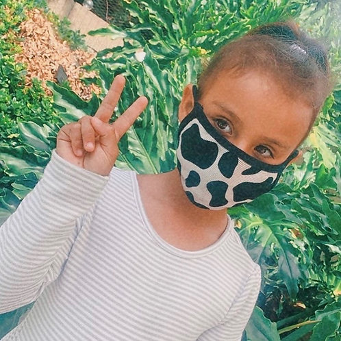 Childrens Cow Print Mask