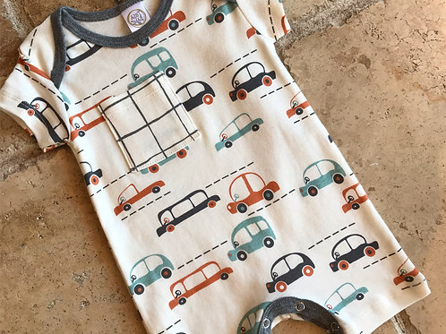 Cars Shortie Romper