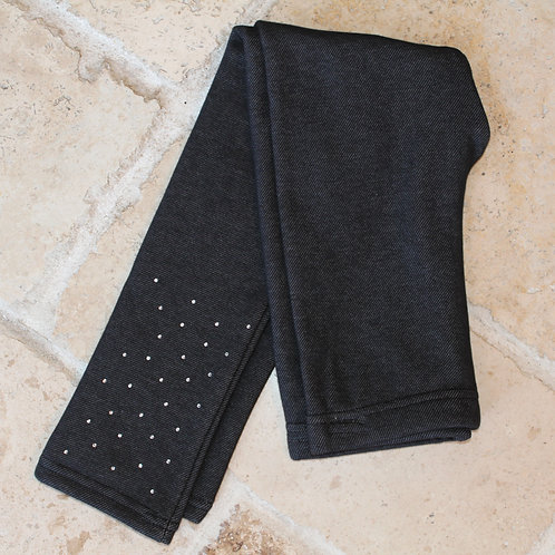 Fleece Rhinestone Legging