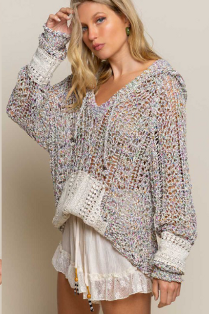 Rainbow Wheat Knit Top
