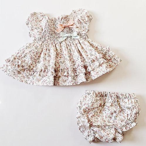 2pc Pink Dress w Bloomer