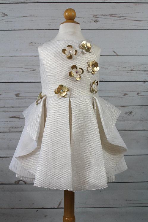 Gold Sponge Mess Dress